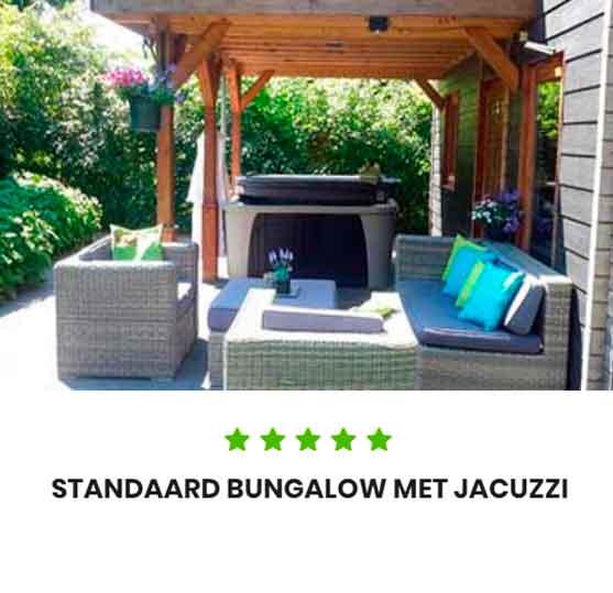 Vakantiepark met jacuzzi standaard Bungalow